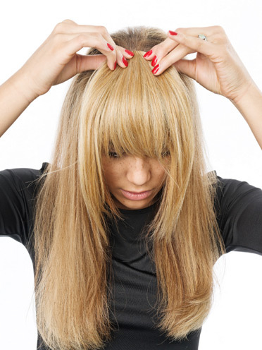 Clip-in-Bang (Fringe) . Der Clip-in-Bang Pony von Hairdo