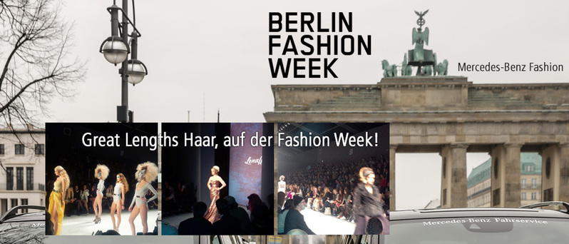 Berlin Fashion Week und Great Lengths ist mit dabei (© Great Lengths, Mercedes-Benz Fashion)