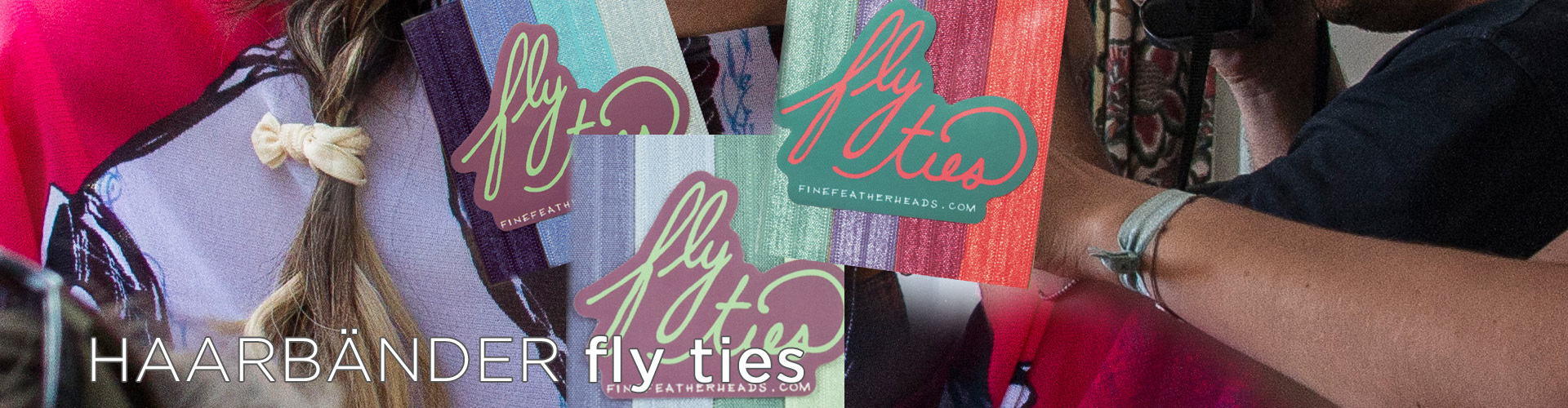 FLY TIES HAARBÄNDER (© Great Lengths)