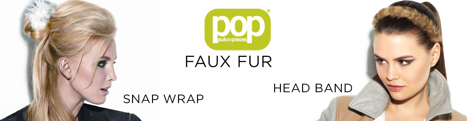 Faux fur Head Band and Snap Wrap (© Great Lengths)
