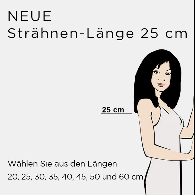 NEUE Strähnen-Länge 25cm (© Great Lengths)