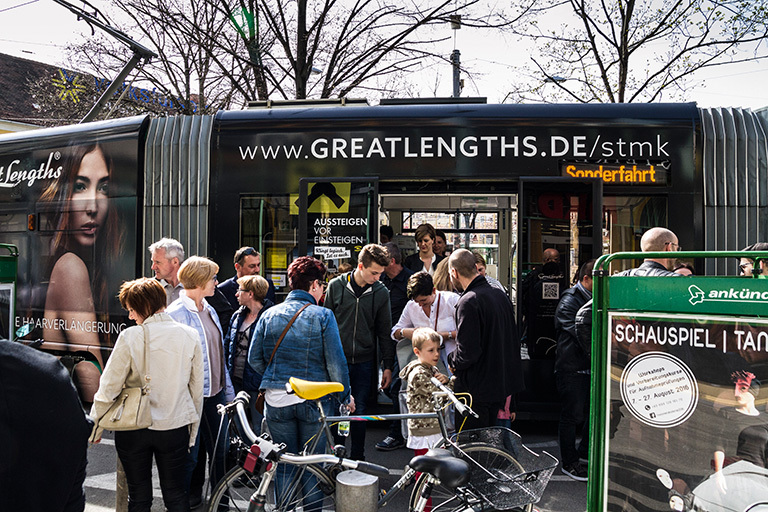Great Lengths - ein Jahr lang, mit der BIM durch Graz (© Great Lengths)
