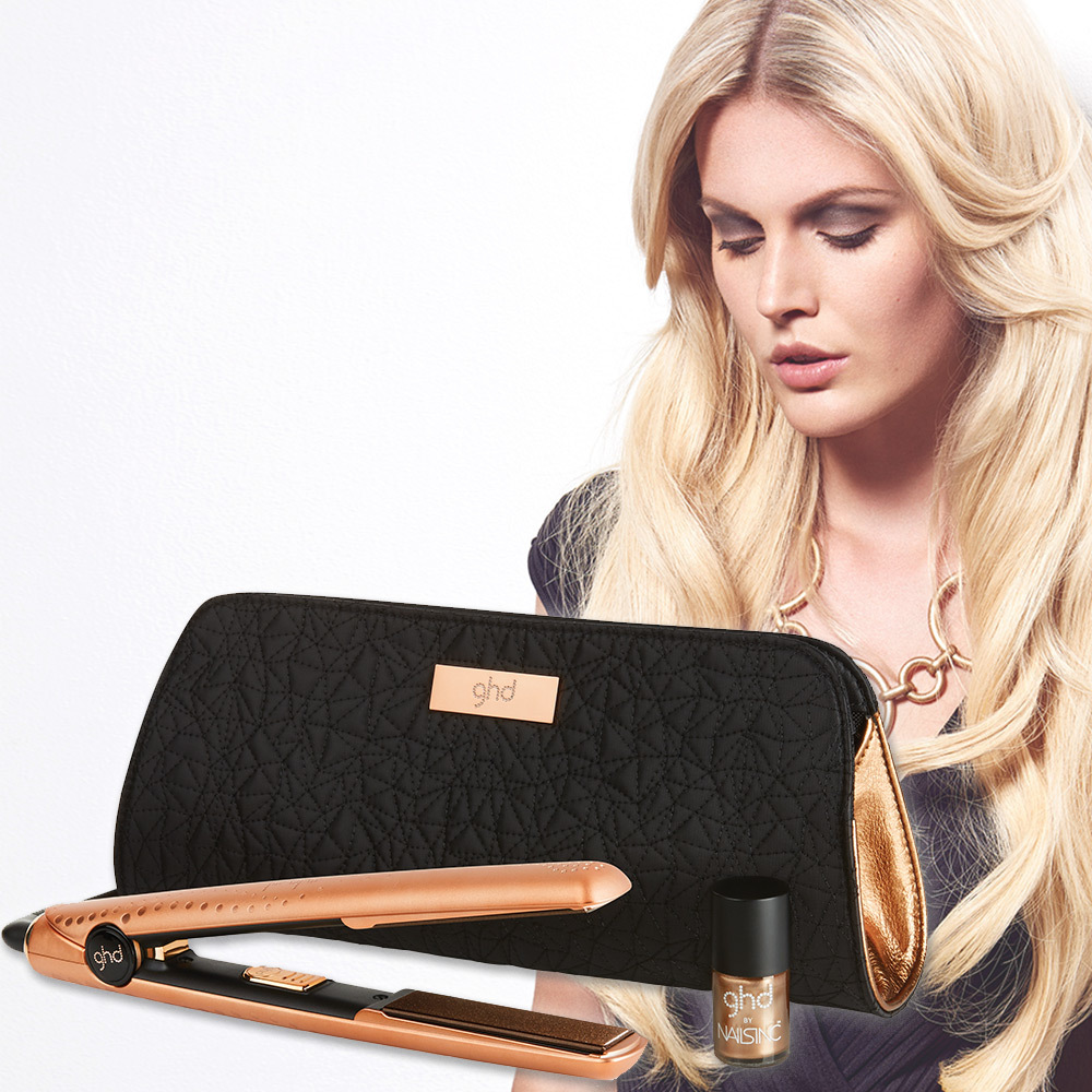 Adventaktion mit Verlosung eines ghd Copper Luxe V Gold Styler Giftset (© Great Lengths)