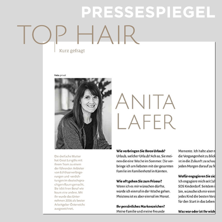 TOP HAIR Austria 12/2017 (© Great Lengths)