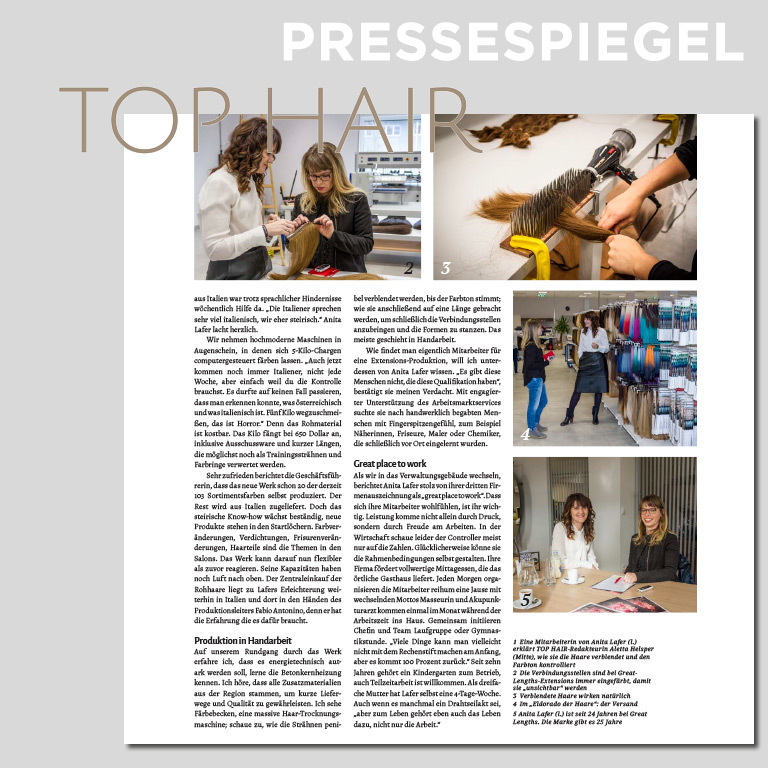 Auf Hausbesuch bei Great Lengths (© TOP HAIR Austria)