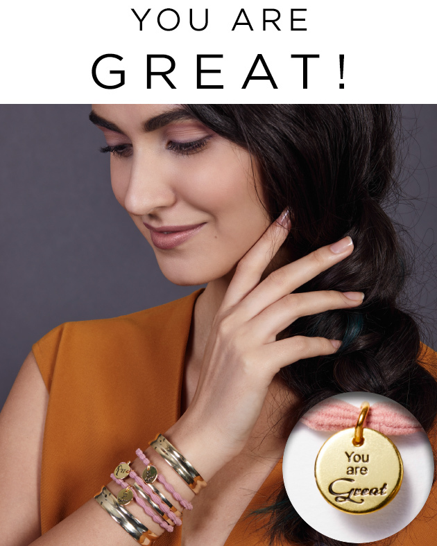 You are Great! Schmuck mit Botschaft (© Great Lengths)