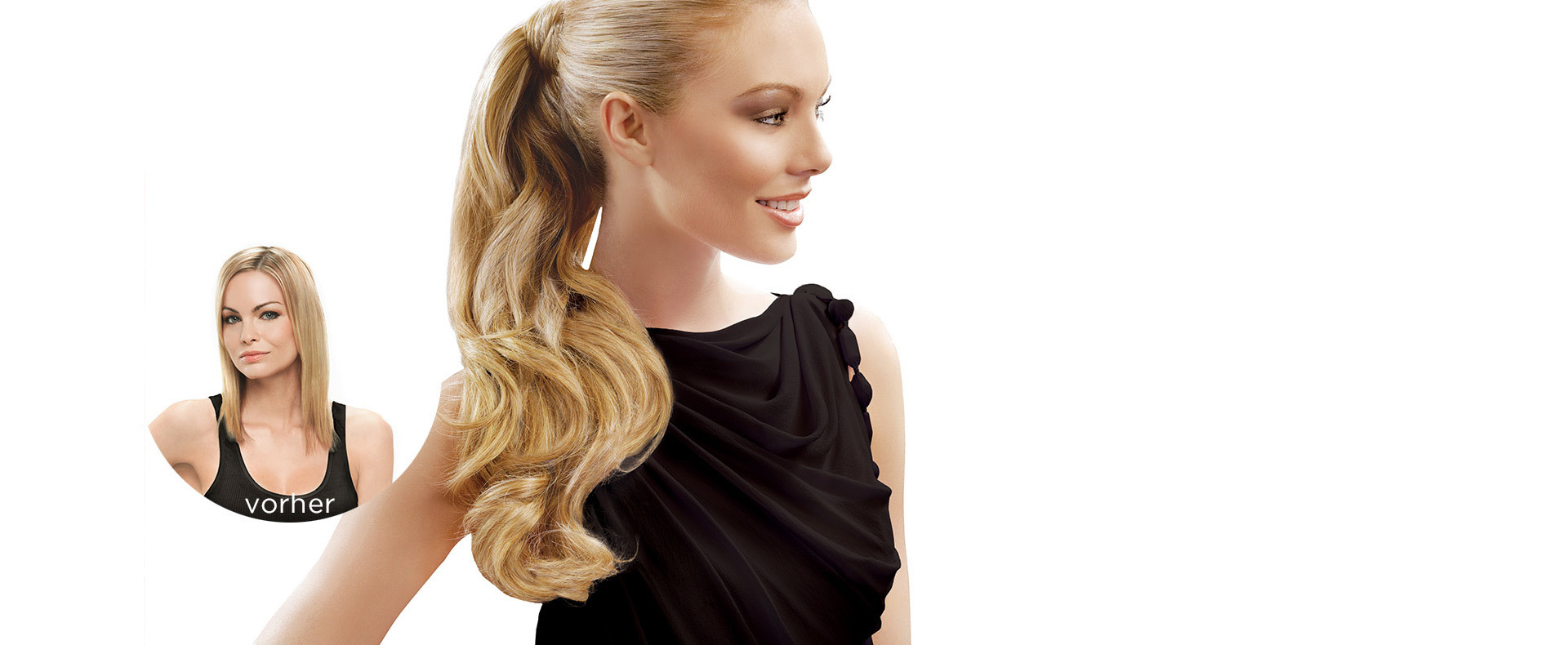 Hairdo, Clip-in-Extensions (© Great Lengths)