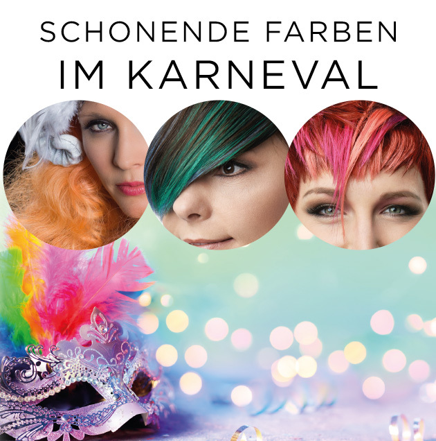 Schonende Farben im Karneval (© Great Lengths)