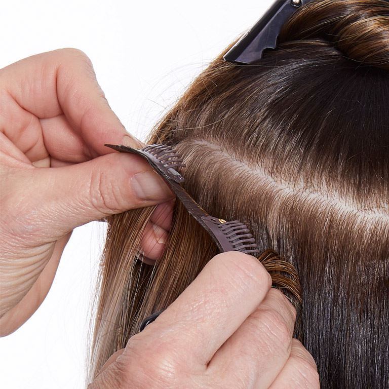 Clip In - die neuen Extensions von Great Lengths:  (© Great Lengths)
