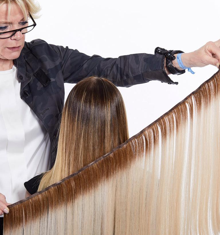 Haarverlangerung haare verknoten