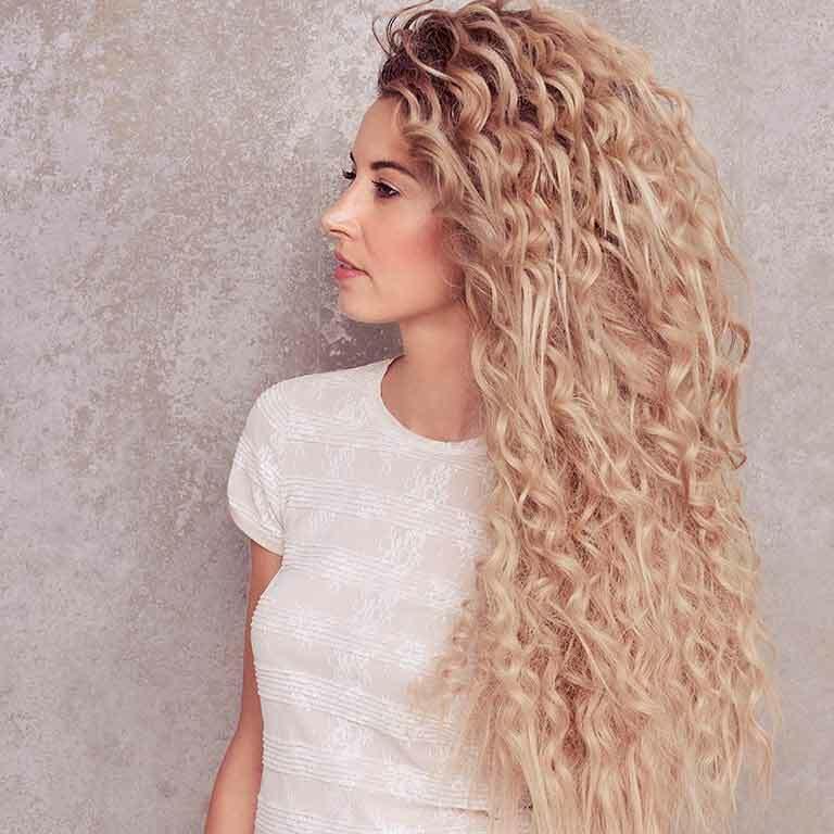Dauerwelle bei langen haaren