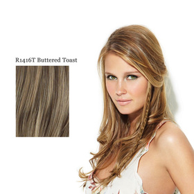 CLIP IN LONG BRAID R1416T buttered toast:  (© Great Lengths)