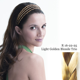 THE 4 BRAID BAND light golden blond trio:  (© Great Lengths)