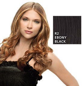 Hairdo 23 inch Clip in Wavy, Ebony Black:  (© HAIRUWEAR)