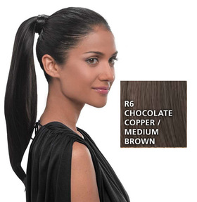 Simply Straight Pony, Chocolate Copper:  (© HAIRUWEAR)