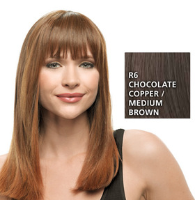 Clip-in-Bang, Chocolate Copper:  (© HAIRUWEAR)