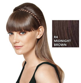 French Braid Band, geflochtenes Haarband, Midnight Brown:  (© HAIRUWEAR)