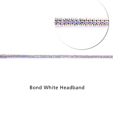 Bond White Headband, Zoom:  (© TASSEL)