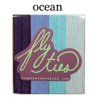 Fly Ties Haarbänder Farbe: ocean:  (© Great Lengths)