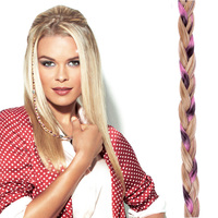 CLIP IN BEADED BRAID R14/88H pink