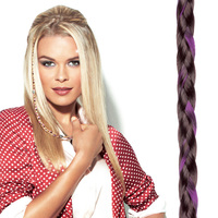 CLIP IN BEADED BRAID R10 pink