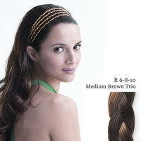THE 4 BRAID BAND medium brown trio