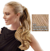 23 inch Wrap Around Pony, Ginger Blond