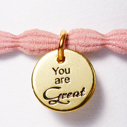 Hair Tie Twisted rosé 'You are Great':  (© Great Lengths)