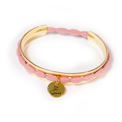 Hair Tie Cuff Gold mit Hair Tie rosé:  (© Great Lengths)