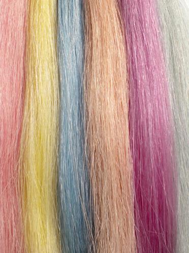 Trendige Pastellsträhnen