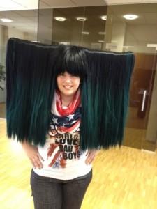 Haar-Vorhang auf für Kathi!