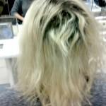 unreparierbares, falsch blondiertes Haar