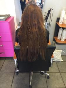 Misslungene Haarverlängerung eines anderen Anbieters