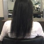 Vor der Haarverlängerung