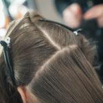 Abteilen der Haare